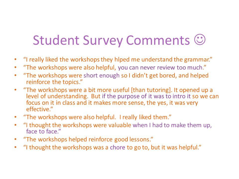 Student Survey Comments