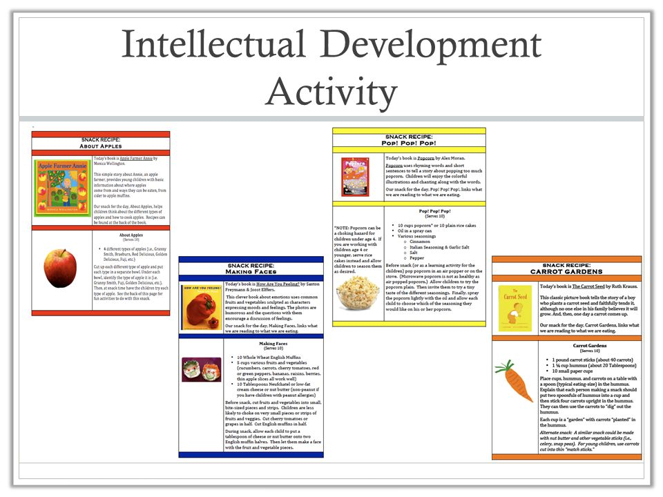 Intellectual Development Activity