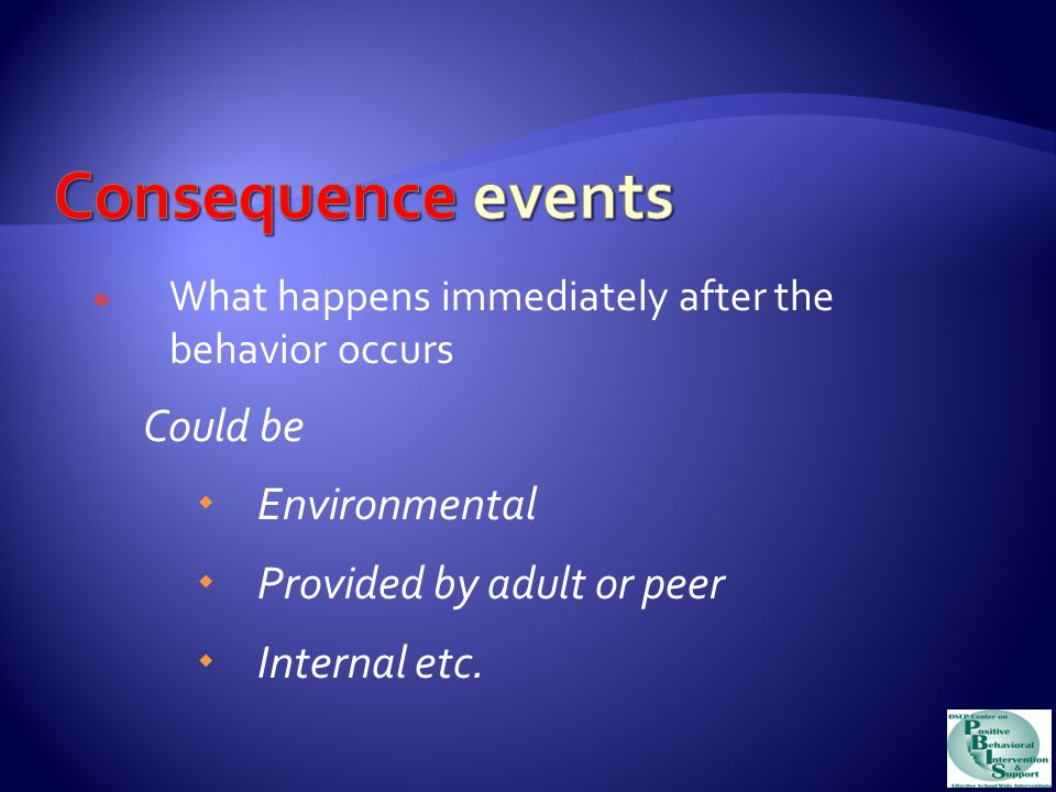 Task 1d: Case Study Continued In your case study determine any setting events for your student's problem behavior.