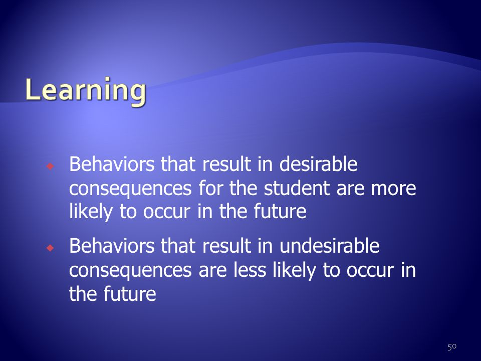  What happens immediately after the behavior occurs Could be  Environmental  Provided by adult or peer  Internal etc.
