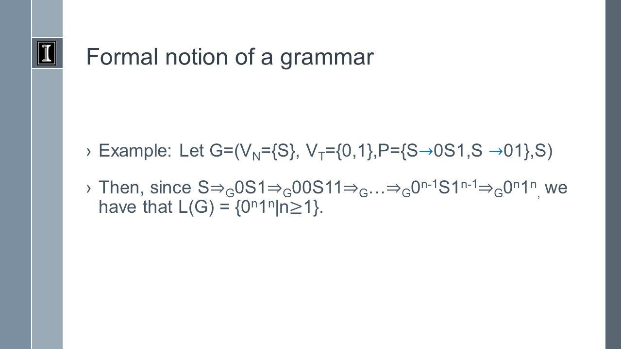 Classes of grammars