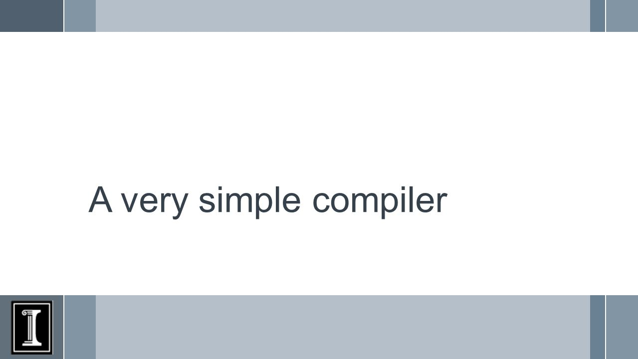 A very simple compiler