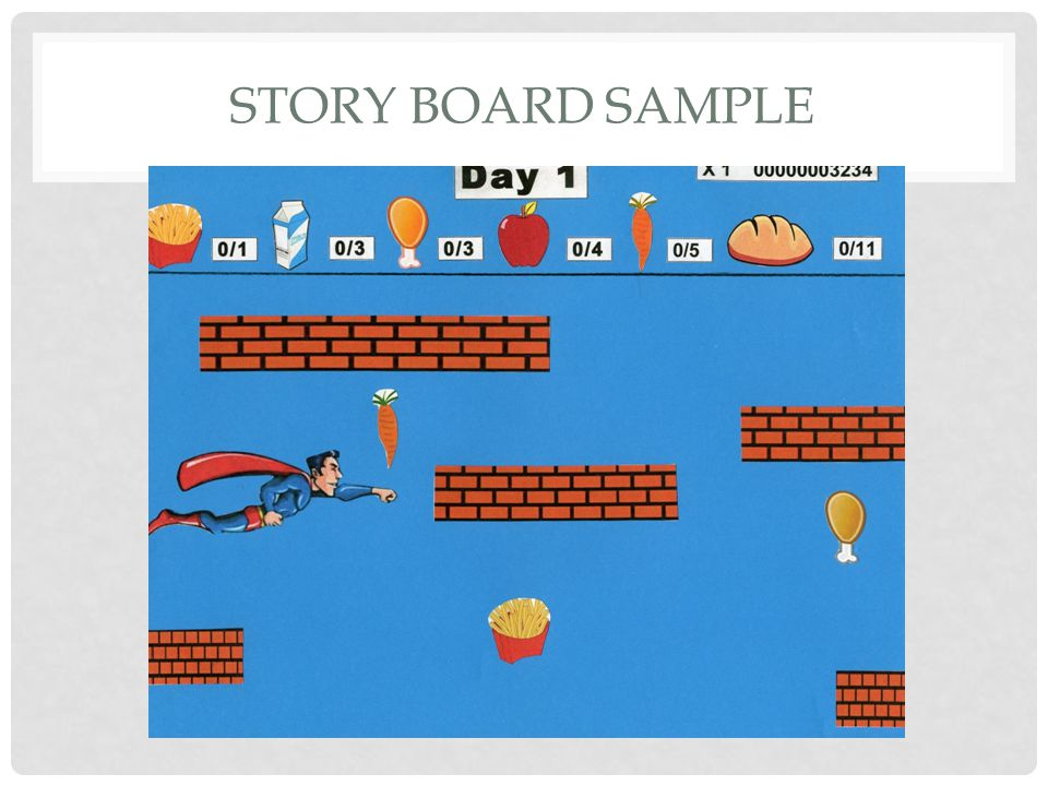 STORY BOARD SAMPLE