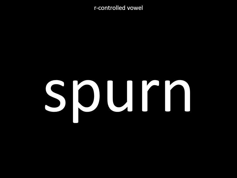 spurn r-controlled vowel
