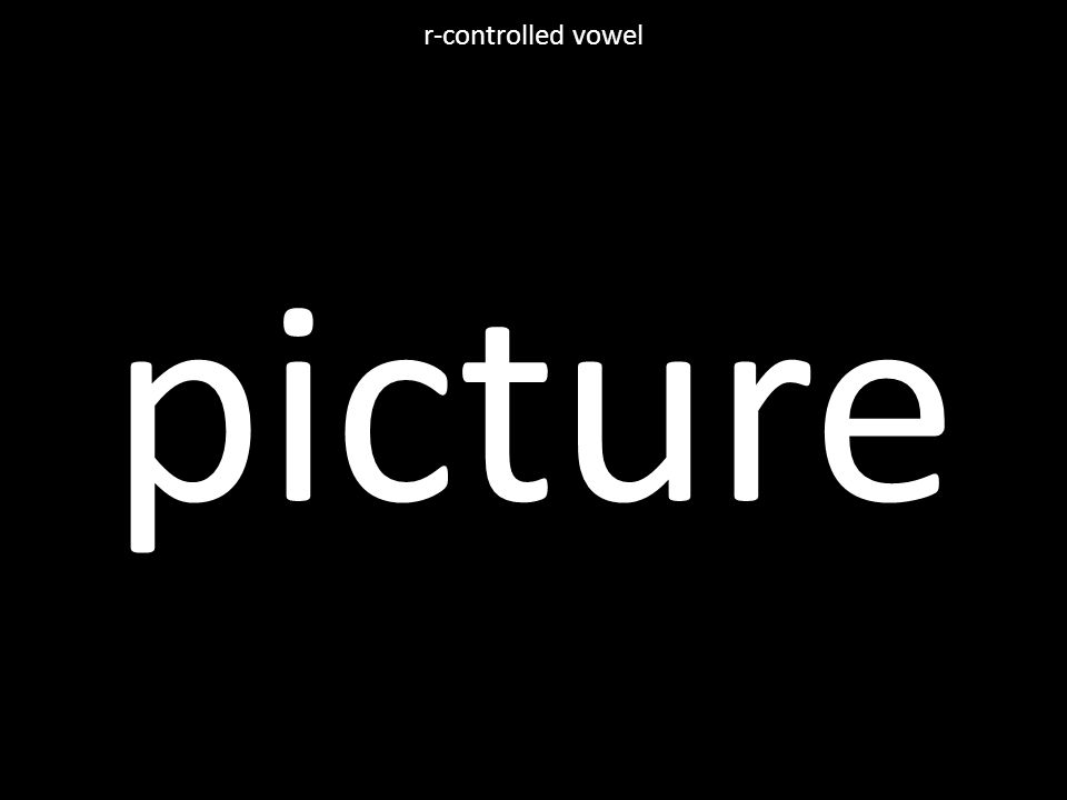 picture r-controlled vowel