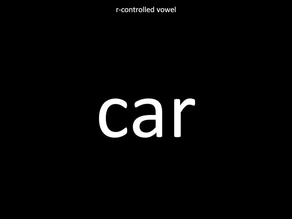 car r-controlled vowel