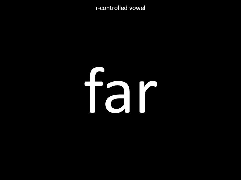 far r-controlled vowel