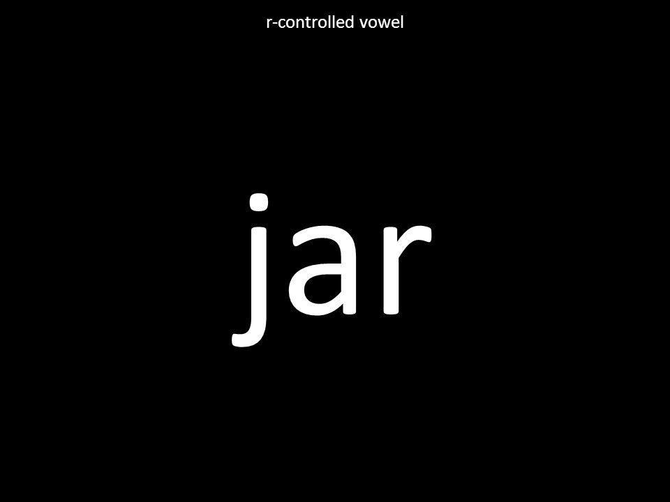 jar r-controlled vowel
