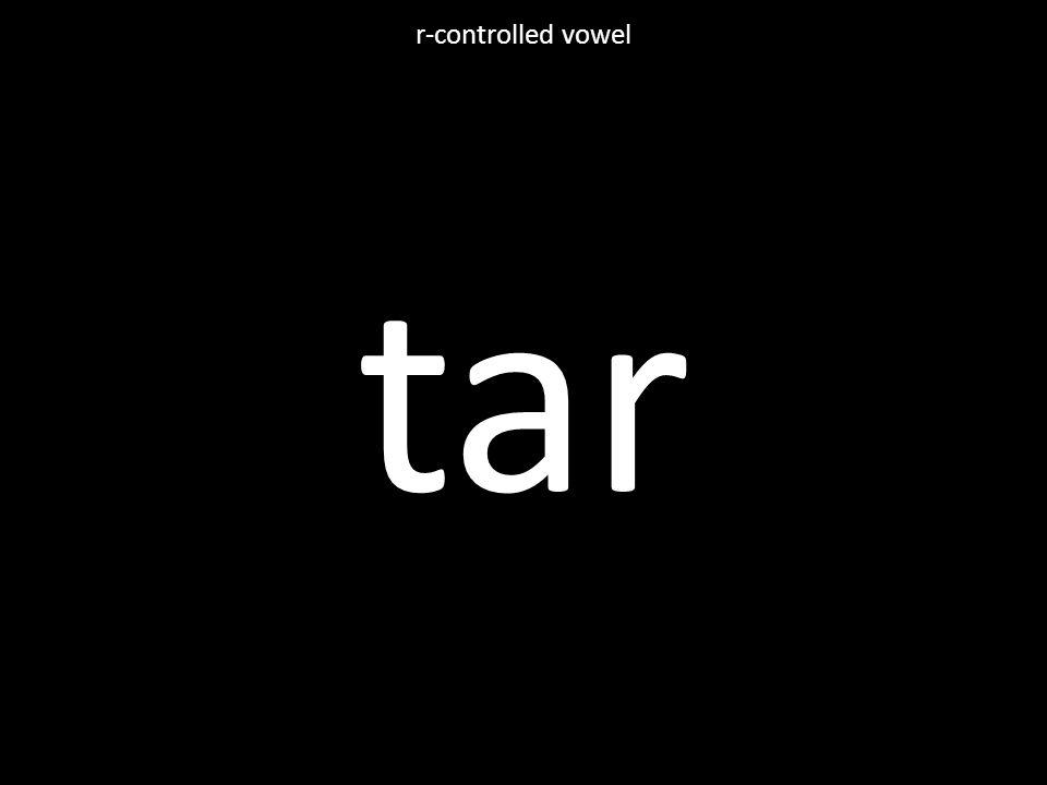tar r-controlled vowel