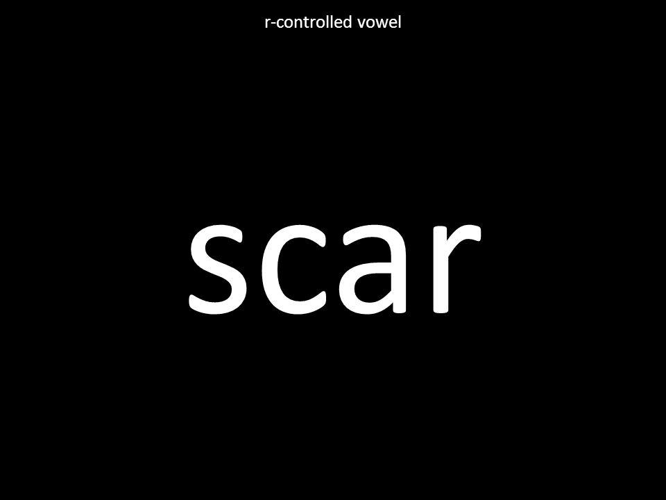 scar r-controlled vowel