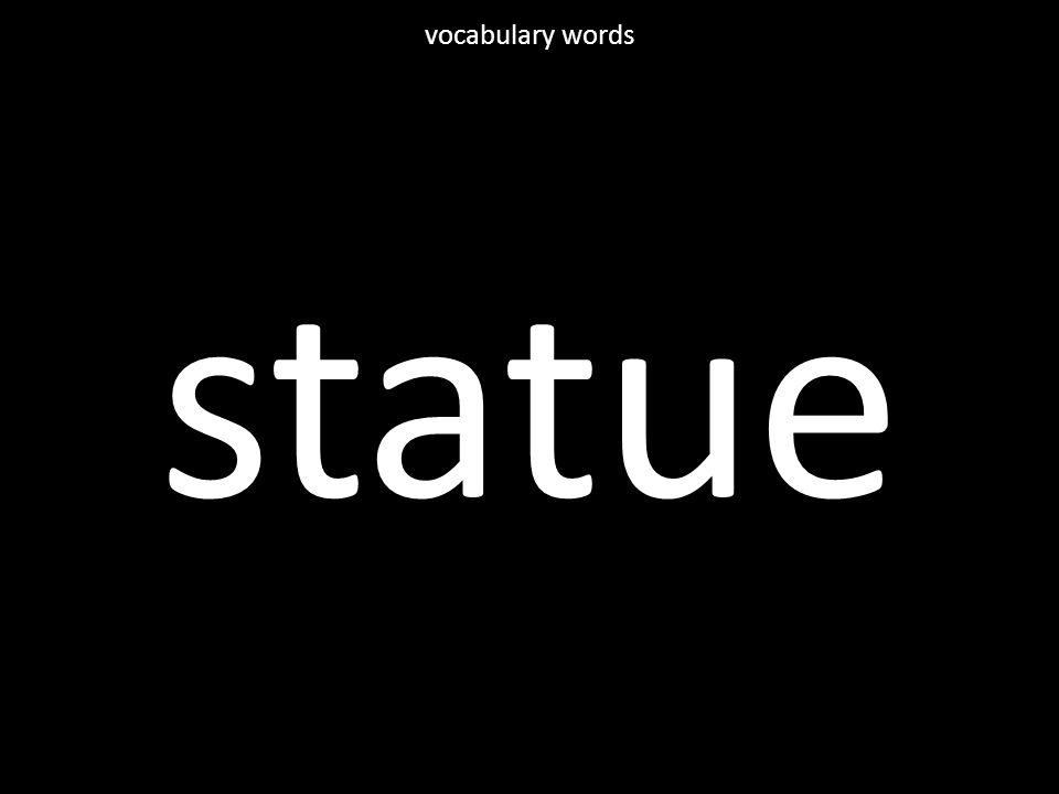 statue vocabulary words
