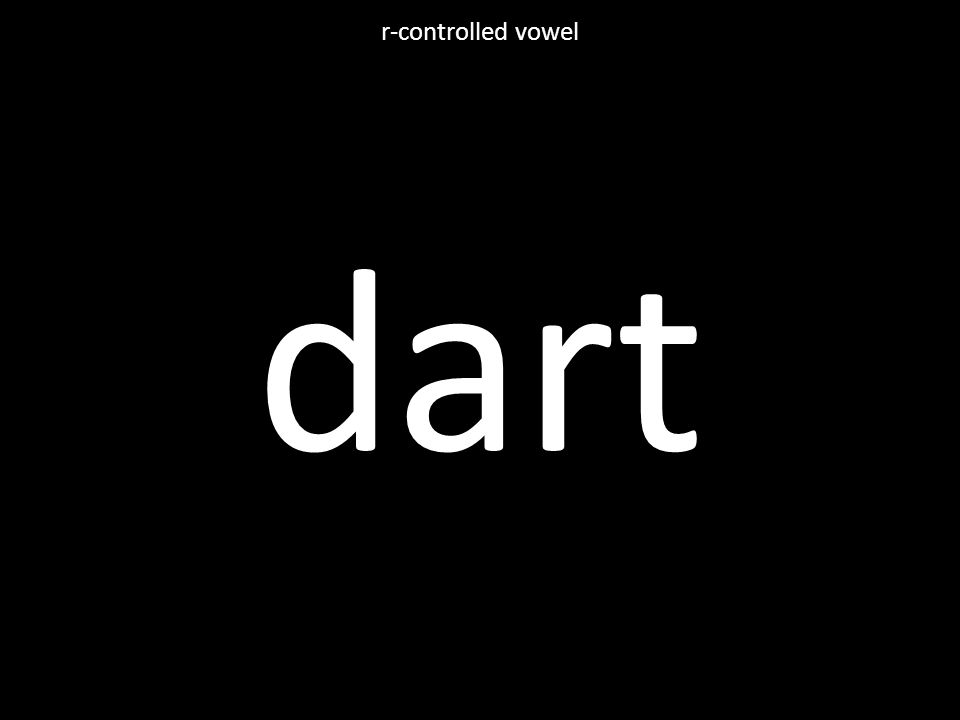 dart r-controlled vowel