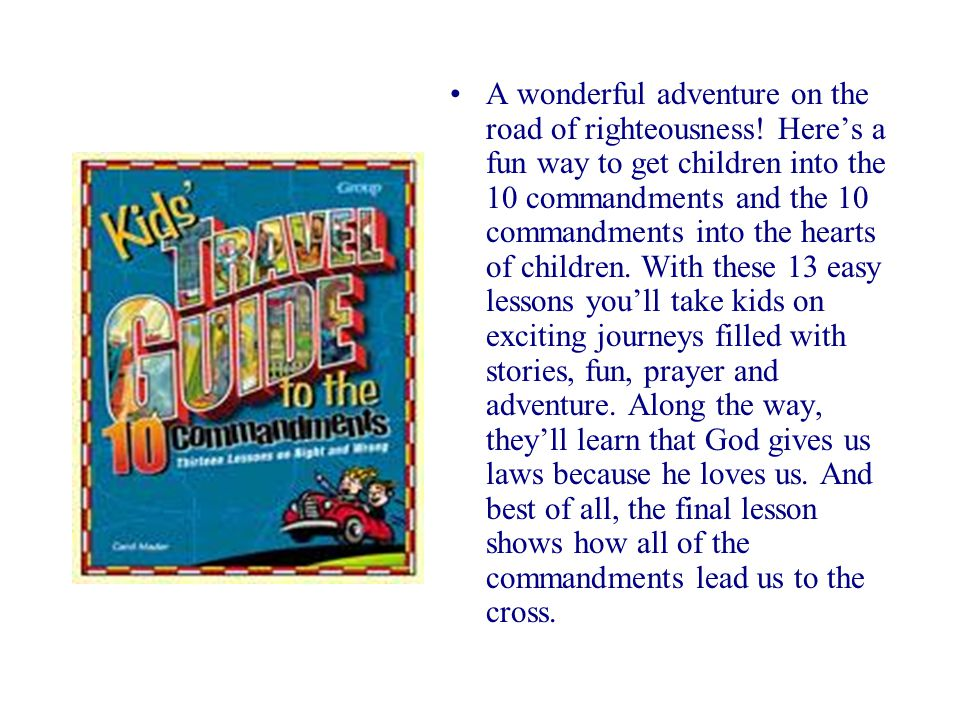 A wonderful adventure on the road of righteousness.