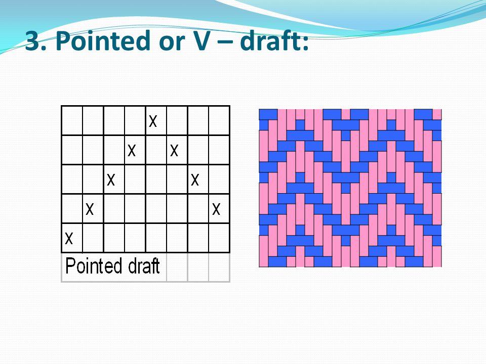 3. Pointed or V – draft: