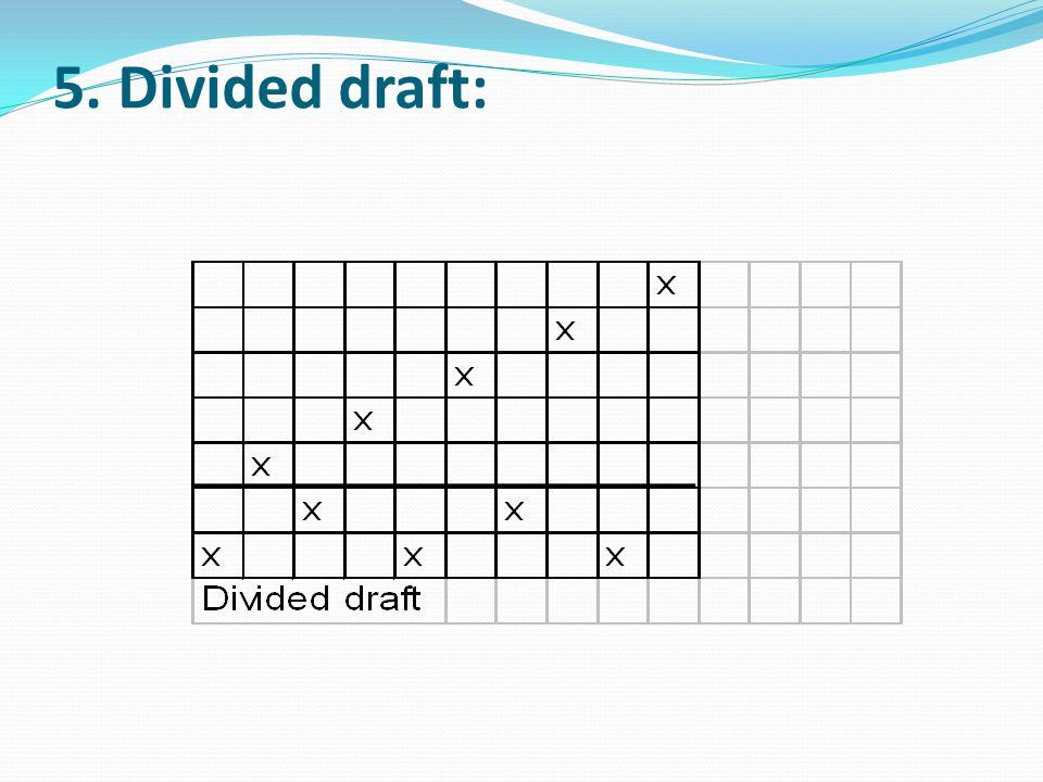 5. Divided draft: