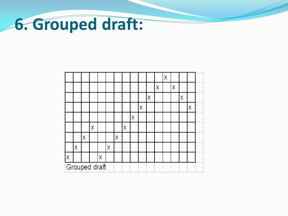 6. Grouped draft: