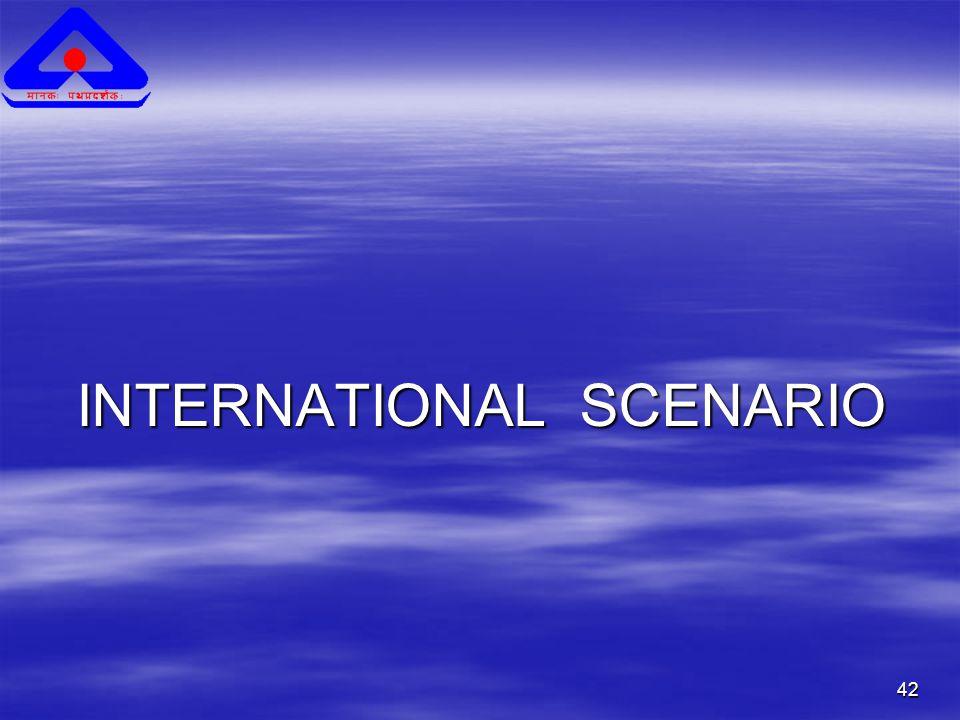 42 INTERNATIONAL SCENARIO INTERNATIONAL SCENARIO
