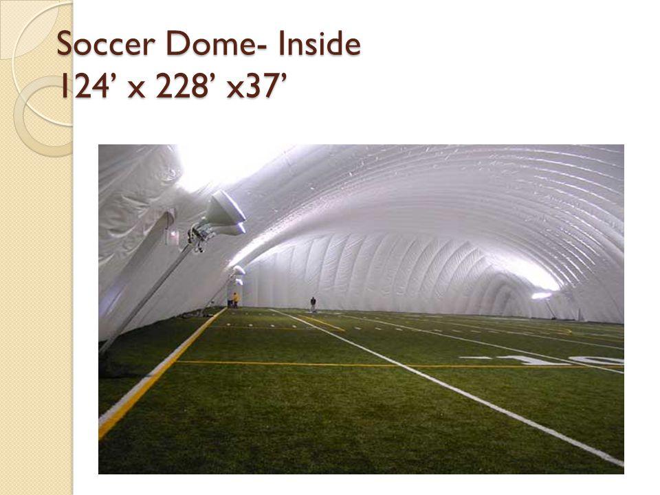Soccer Dome- Inside 124' x 228' x37'