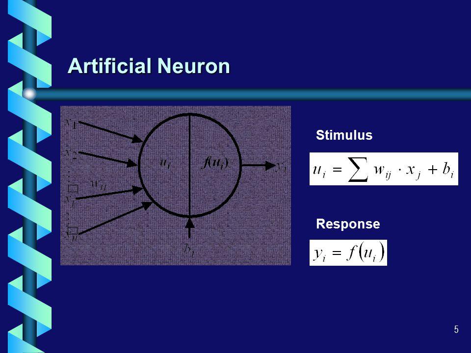 5 Artificial Neuron Stimulus Response