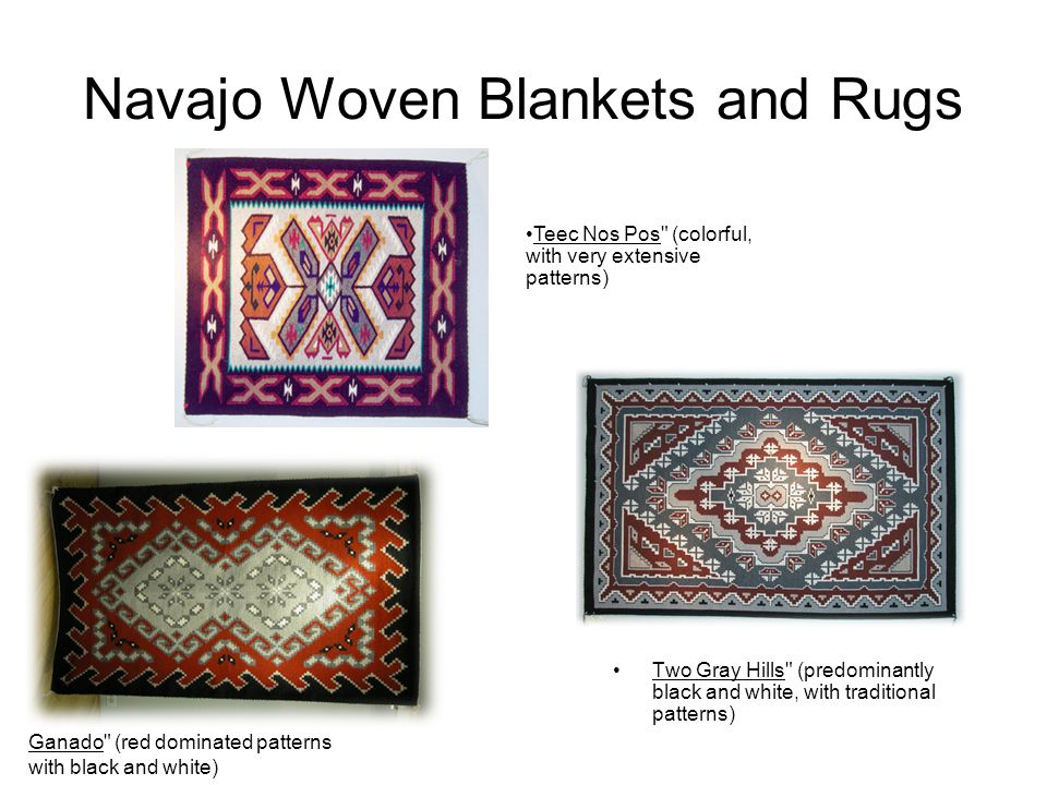 Navajo Woven Blankets and Rugs Two Gray Hills