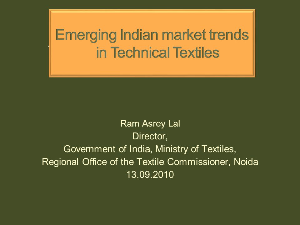 To strengthen the database of technical textiles industry, the ICRA Management Consultancy Services (IMaCS) was appointed to conduct the baseline survey at a cost of Rs 54.50 lakhs.