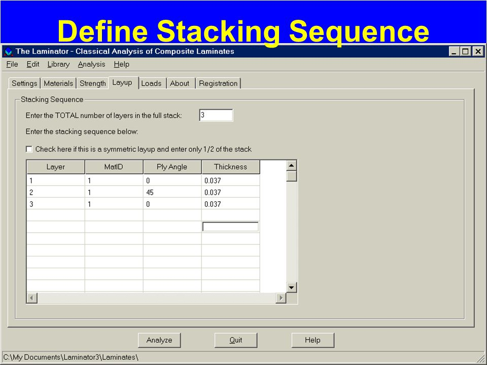 Define Stacking Sequence