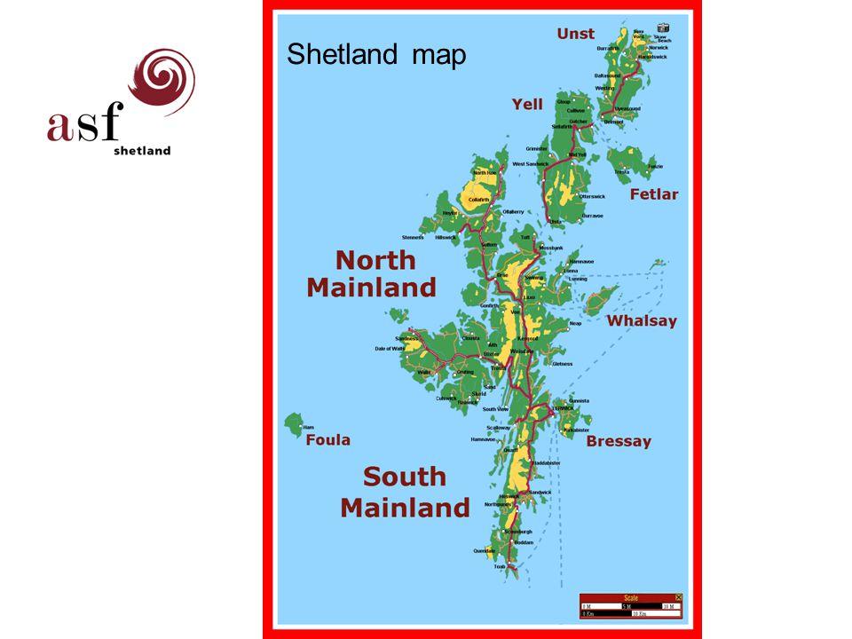 Shetland map