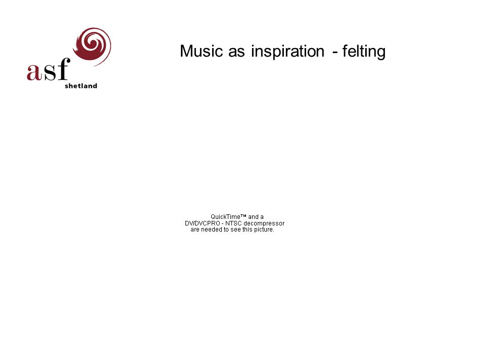 Music as inspiration - felting