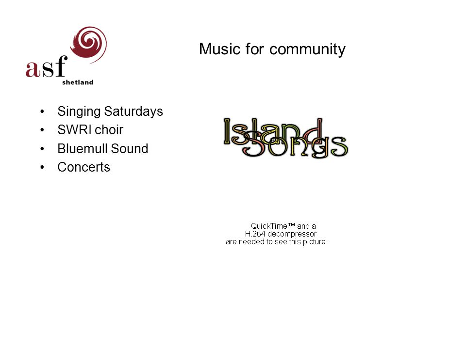 Music for community Singing Saturdays SWRI choir Bluemull Sound Concerts