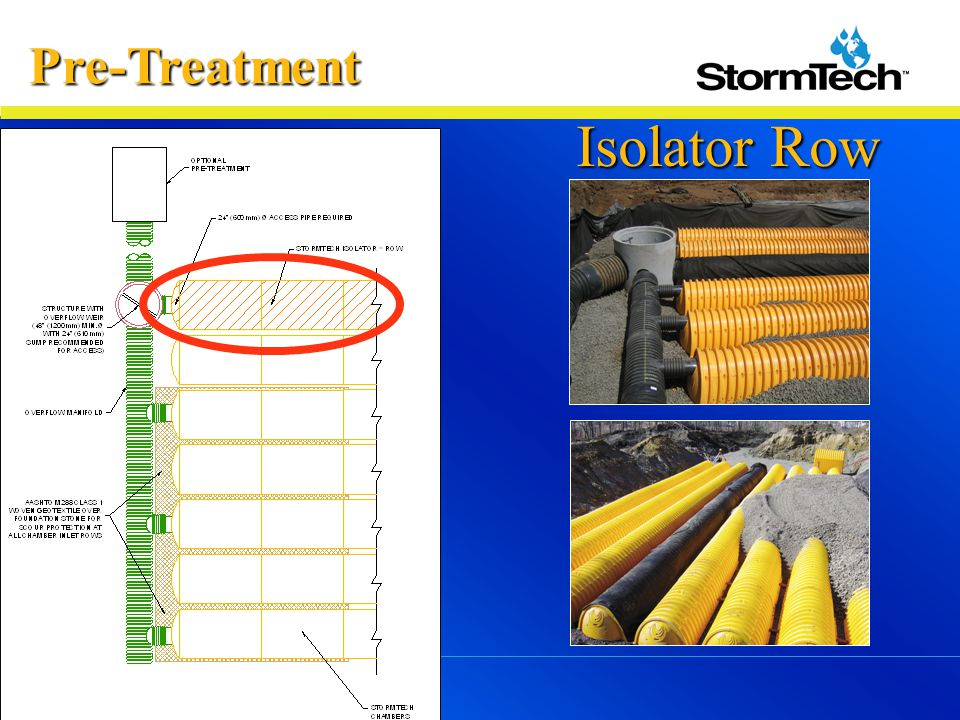 Pre-Treatment Isolator Row