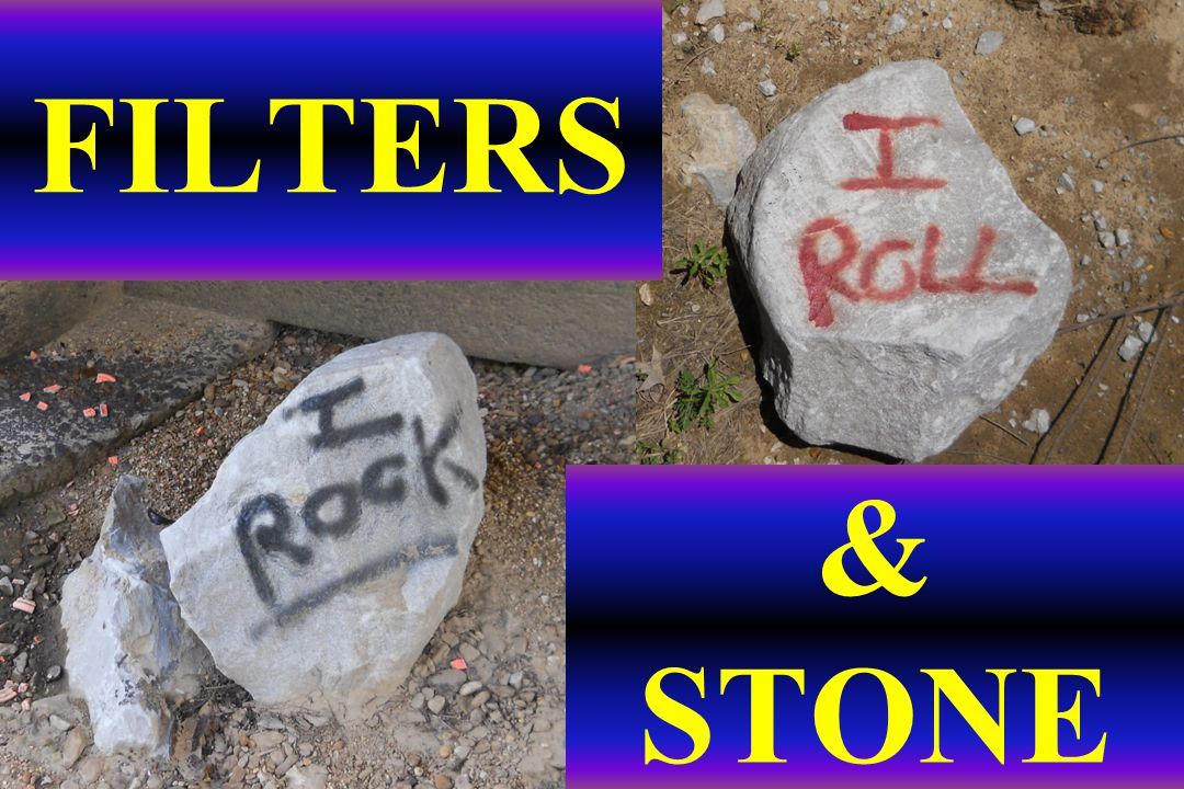 An ugly pile of rock!.Median of I-220, Jackson MS.