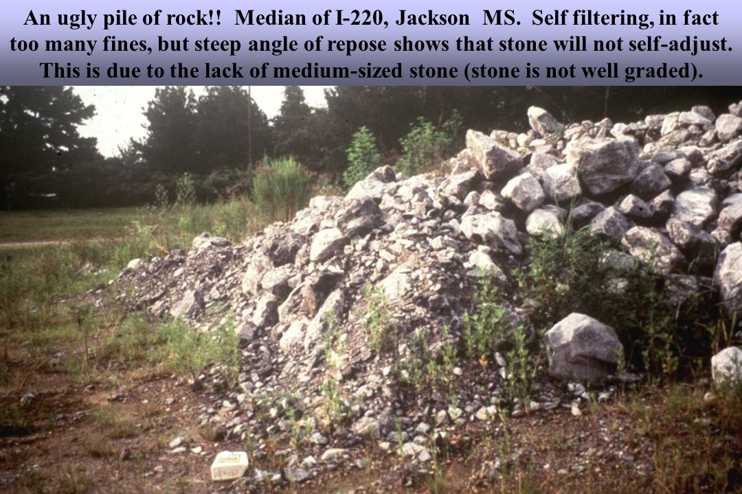 An ugly pile of rock!. Median of I-220, Jackson MS.