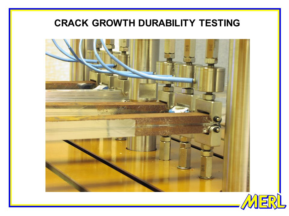 CRACK GROWTH DURABILITY TESTING