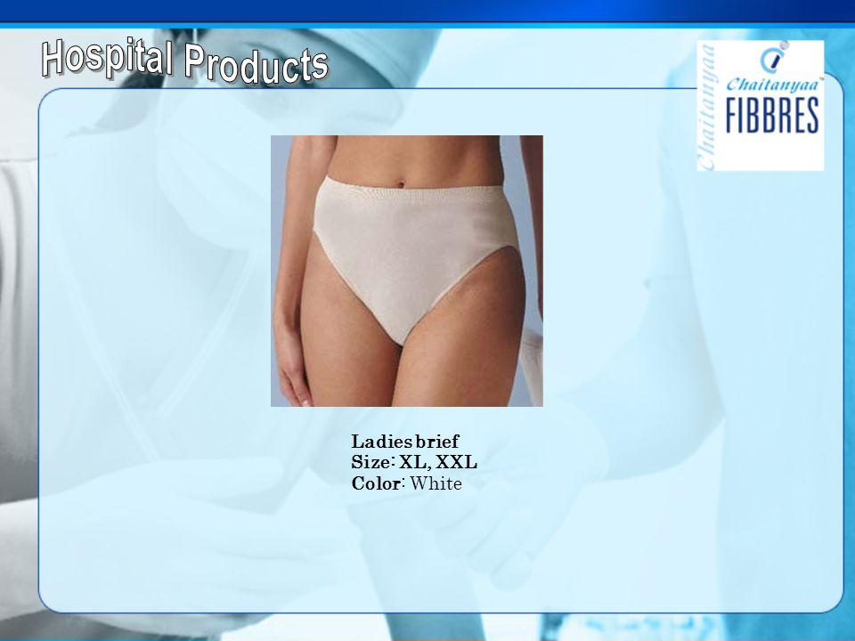 Ladies brief Size: XL, XXL Color: White