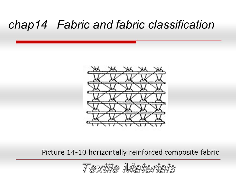 chap14 Fabric and fabric classification Picture 14-10 horizontally reinforced composite fabric