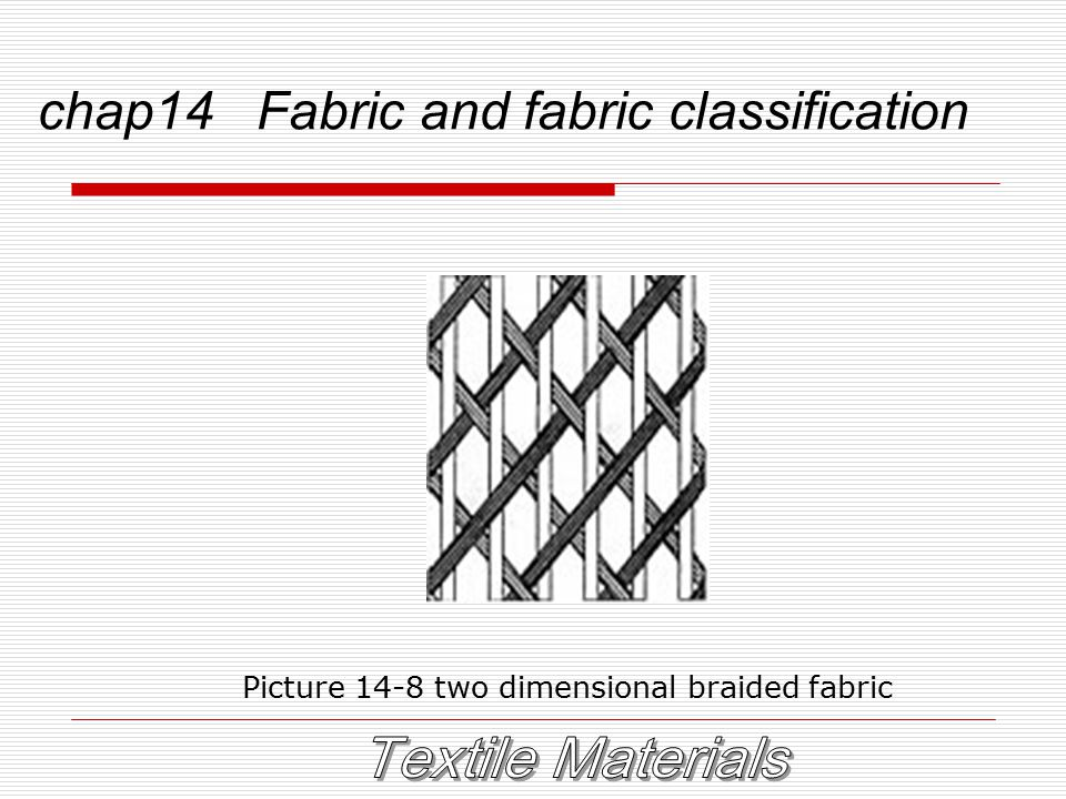 chap14 Fabric and fabric classification Picture 14-8 two dimensional braided fabric