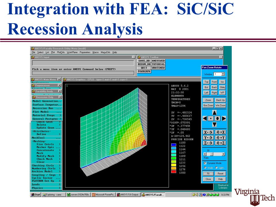 Integration with FEA: SiC/SiC Recession Analysis