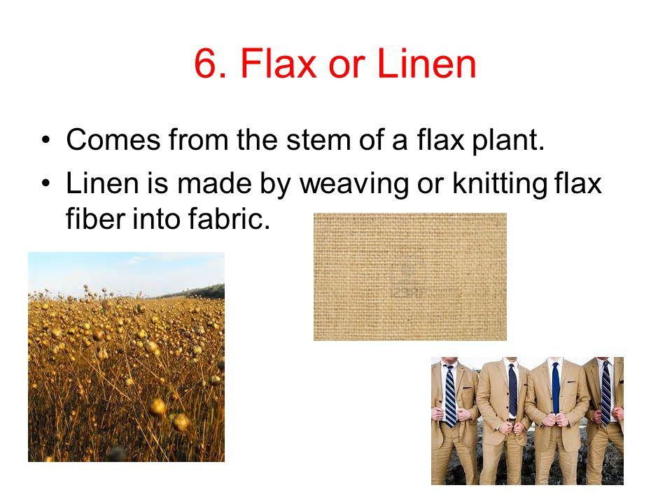 Turning Yarn into Fabric (cont.) Warp yarns: Yarns that run lengthwise in woven fabric.