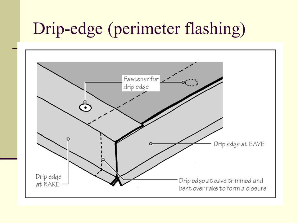 Drip-edge (perimeter flashing)