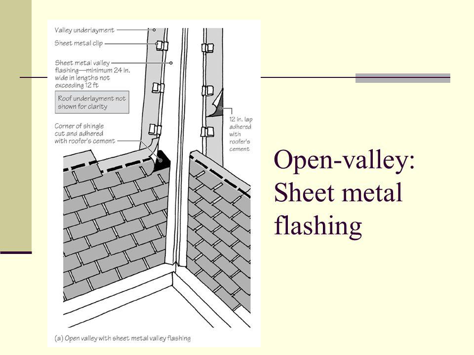 Open-valley: Sheet metal flashing