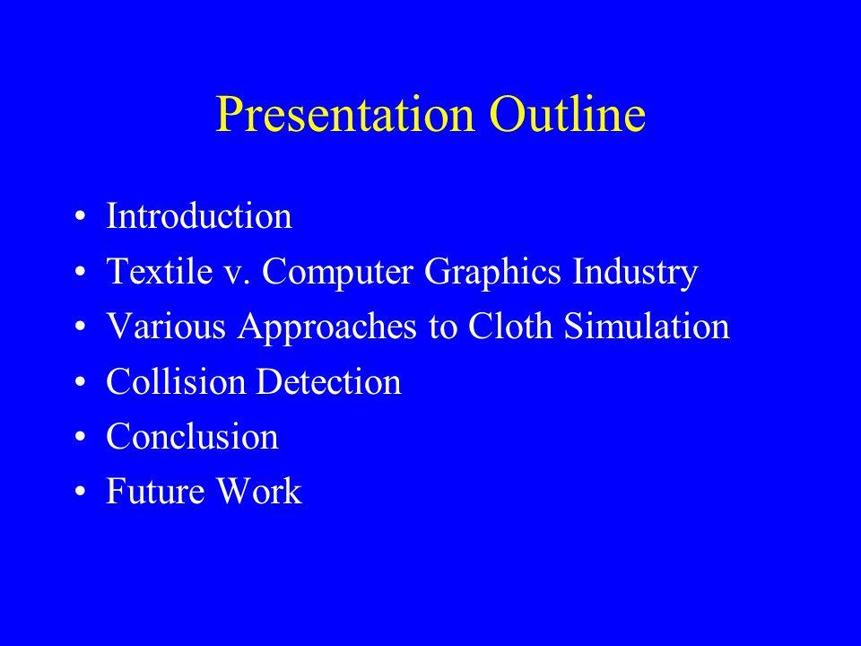 Presentation Outline Introduction Textile v.