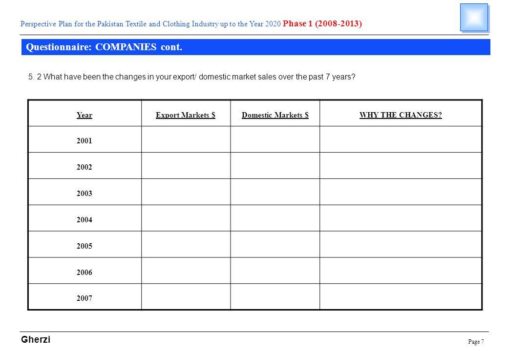 Page 7 Gherzi Questionnaire: COMPANIES cont.
