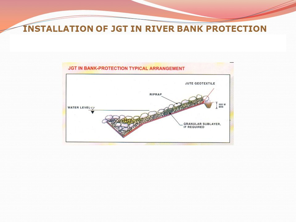 INSTALLATION OF JGT IN RIVER BANK PROTECTION