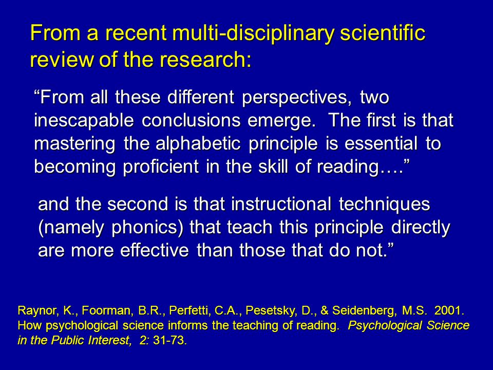 From a recent multi-disciplinary scientific review of the research: From all these different perspectives, two inescapable conclusions emerge.