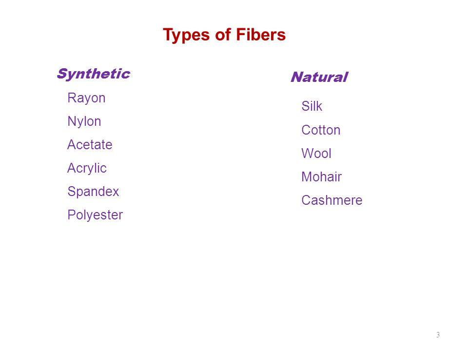 Classification 4 Natural fibers are classified according to their origin: Vegetable or cellulose, Animal or protein, Mineral Cellulose Fiber Cotton—vegetable fiber; strong, tough, flexible, moisture- absorbent, not shape-retentive Rayon—chemically altered cellulose; soft, lustrous, versatile Cellulose acetate—cellulose that is chemically altered to create an entirely new compound not found in nature Protein Fiber Wool—animal fiber coming most often from sheep, but may be goat (mohair), rabbit (angora), camel, alpaca, llama, or vicuña Silk—insect fiber that is spun by a silkworm to make its cocoon; the fiber reflects light and has insulating properties