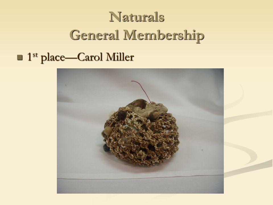 Naturals General Membership 1 st place—Carol Miller 1 st place—Carol Miller