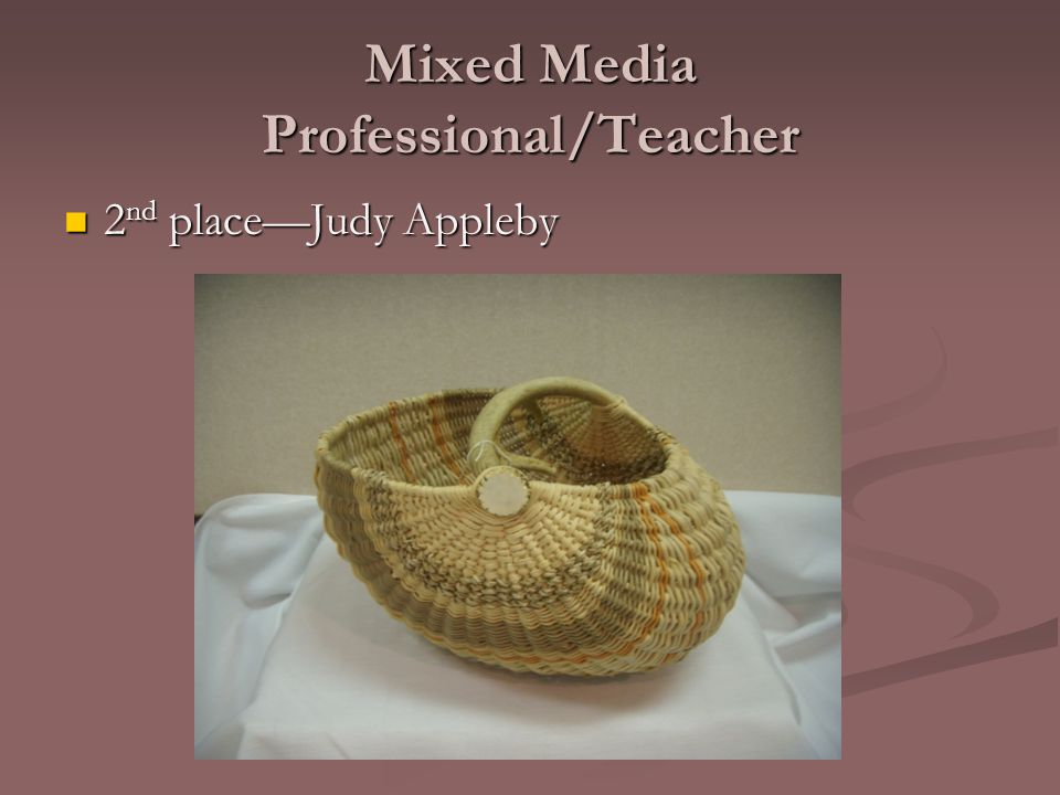 Mixed Media Professional/Teacher 2 nd place—Judy Appleby 2 nd place—Judy Appleby