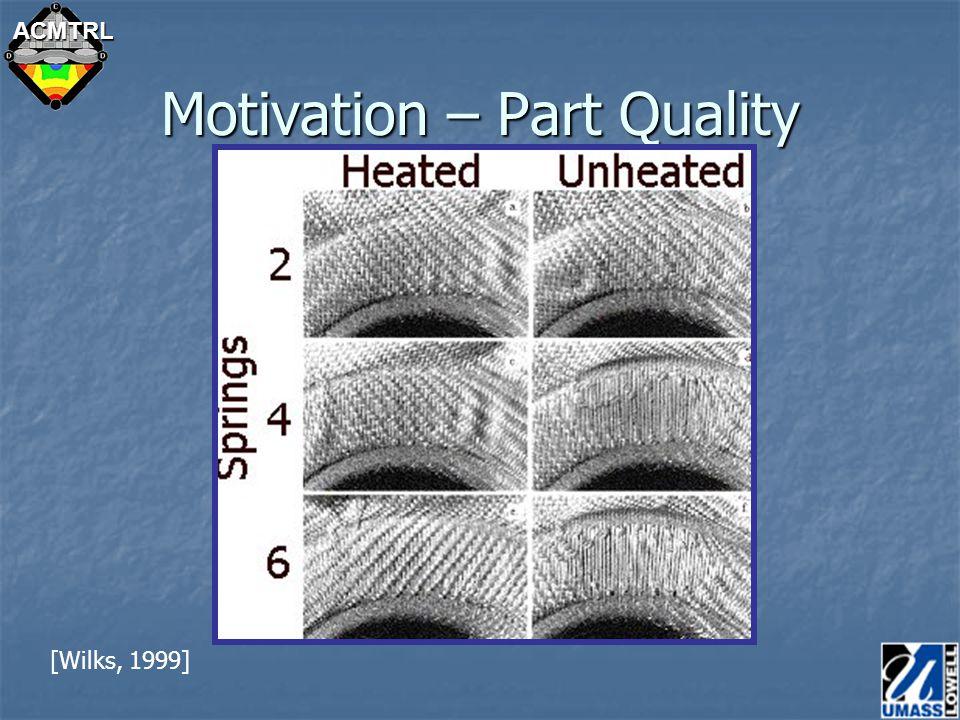 ACMTRL Motivation – Part Quality [Wilks, 1999]