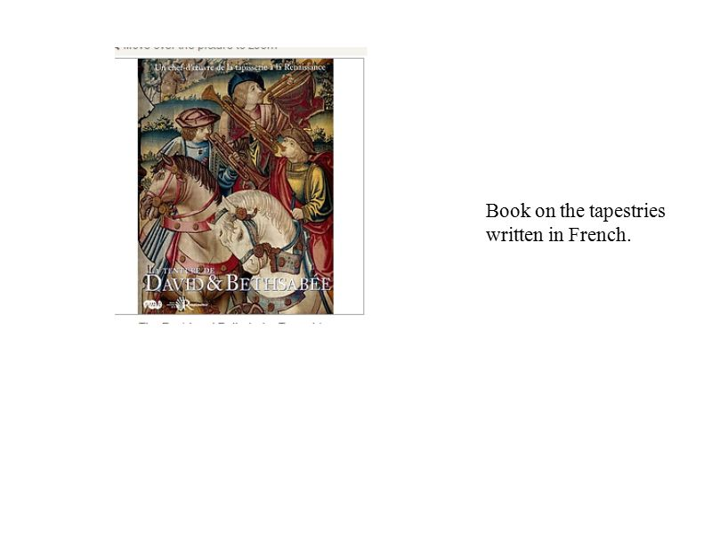 Book on the tapestries written in French.