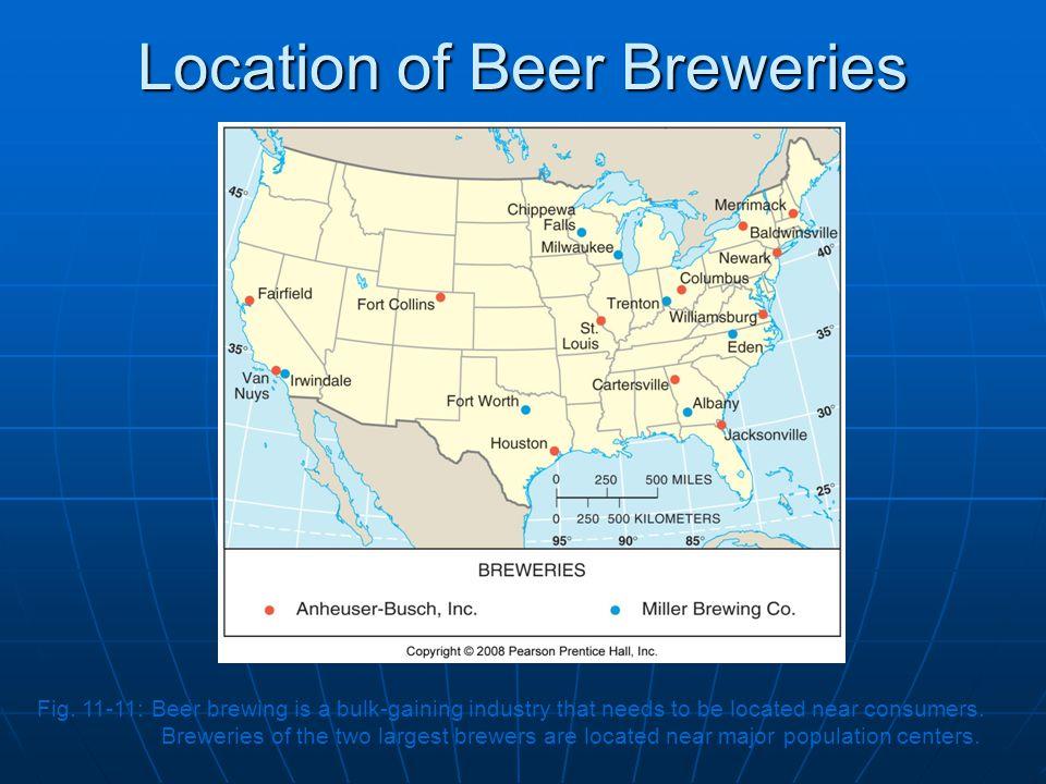 Location of Beer Breweries Fig.